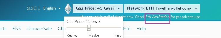ETH gas gwei
