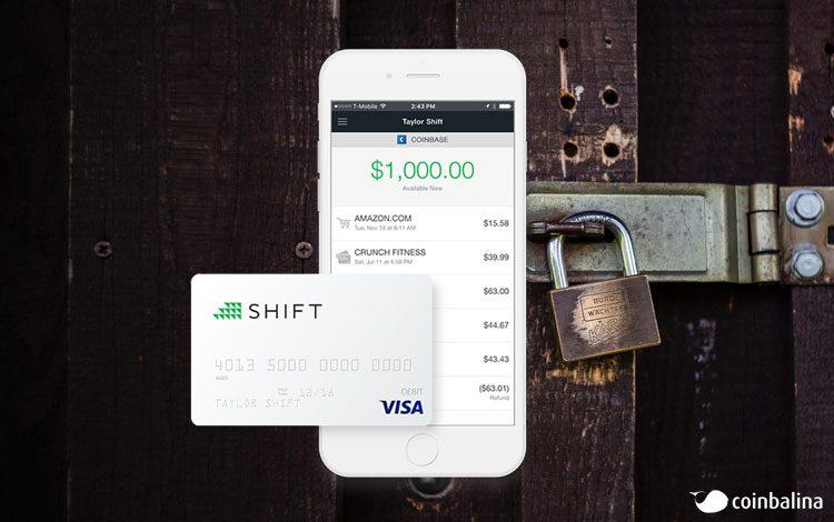 Shift debit kart coinbase